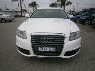 2011 Audi A6 4F MY11 Multitronic White 1 Speed Constant Variable Sedan.