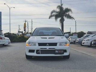 2001 Mitsubishi Lancer CT9A Evolution VII White 5 Speed Manual Sedan.