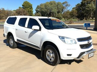 2014 Holden Colorado RG MY15 LS Crew Cab 4x2 White 6 Speed Sports Automatic Utility.