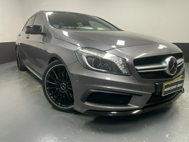 Used Mercedes-Benz A-Class W176 A45 AMG SPEEDSHIFT DCT 4MATIC Hamilton, 2013 Mercedes-Benz A-Class W176 A45 AMG SPEEDSHIFT DCT 4MATIC Grey 7 Speed
