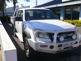 2010 Ford Ranger PK XL Crew Cab 4x2 Hi-Rider White 5 Speed Automatic Utility.