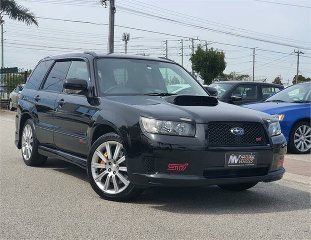 Used Subaru Forester STi Cheltenham, 2006 Subaru Forester SG9 STi Black Manual Wagon