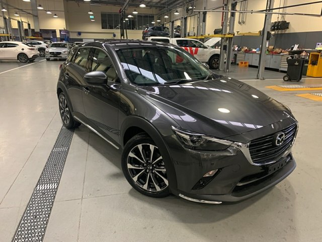 New Mazda CX-3 DK4W7A sTouring SKYACTIV-Drive i-ACTIV AWD Alexandria, 2021 Mazda CX-3 DK4W7A sTouring SKYACTIV-Drive i-ACTIV AWD Machine Grey 6 Speed Sports Automatic