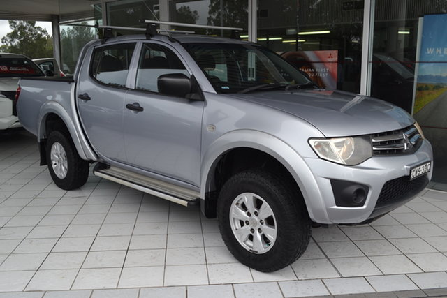 Used Mitsubishi Triton MN MY15 GLX Double Cab Maitland, 2014 Mitsubishi Triton MN MY15 GLX Double Cab Cool Silver 5 Speed Manual Utility