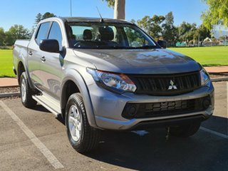 2018 Mitsubishi Triton MQ MY18 GLX+ Double Cab Grey 5 Speed Sports Automatic Utility.