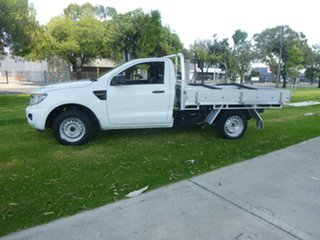 2014 Ford Ranger PX XL White Manual Cab Chassis