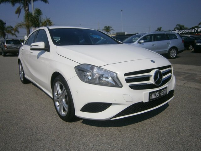 Used Mercedes-Benz A-Class W176 A180 D-CT Cheltenham, 2014 Mercedes-Benz A-Class W176 A180 D-CT White 7 Speed Sports Automatic Dual Clutch Hatchback
