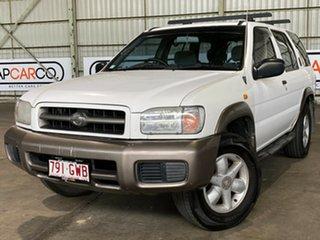 1999 Nissan Pathfinder WX II ST White 4 Speed Automatic Wagon.