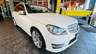 2014 Mercedes-Benz C-Class S205 C250 Estate 7G-Tronic + White 7 Speed Sports Automatic Wagon.