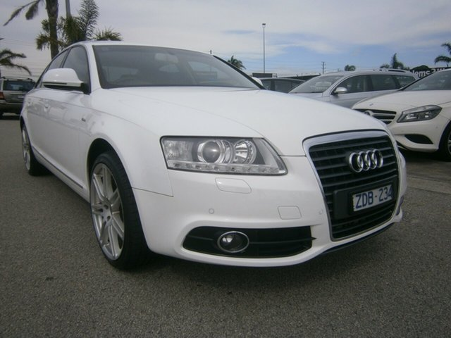 Used Audi A6 4F MY11 Multitronic Cheltenham, 2011 Audi A6 4F MY11 Multitronic White 1 Speed Constant Variable Sedan