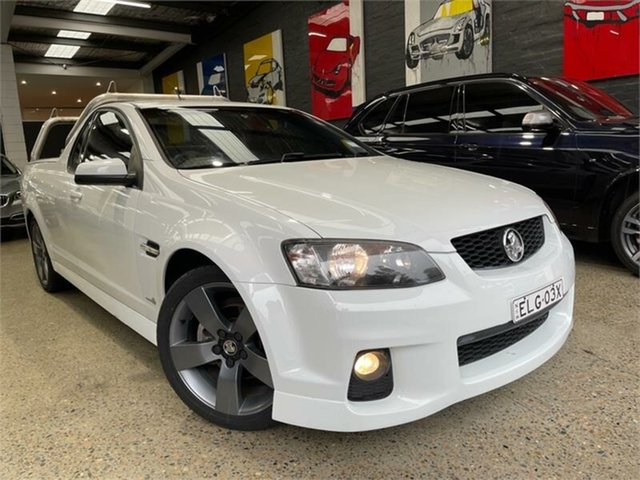 Used Holden Ute VE II SV6 Thunder Glebe, 2011 Holden Ute VE II SV6 Thunder White Sports Automatic Utility