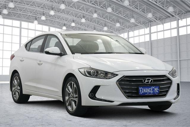 Used Hyundai Elantra AD MY17 Elite Victoria Park, 2017 Hyundai Elantra AD MY17 Elite Polar White 6 Speed Sports Automatic Sedan