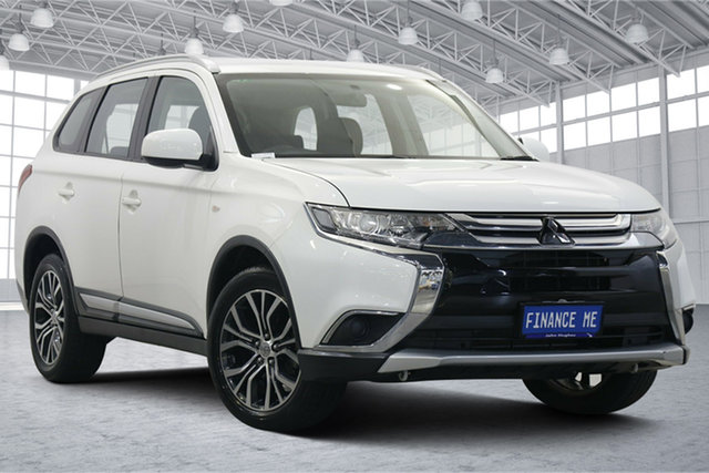 Used Mitsubishi Outlander ZL MY18.5 ES 2WD Victoria Park, 2017 Mitsubishi Outlander ZL MY18.5 ES 2WD White 6 Speed Constant Variable Wagon