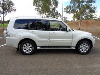 2011 Mitsubishi Pajero NT MY11 Platinum White 5 Speed Sports Automatic Wagon.