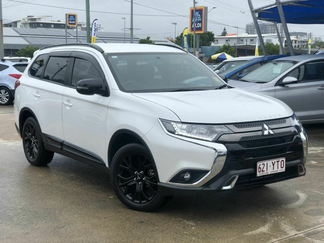 Used Mitsubishi Outlander ZL MY19 Black Edition 2WD Chermside, 2019 Mitsubishi Outlander ZL MY19 Black Edition 2WD White 6 Speed Constant Variable Wagon