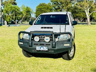 2011 Toyota Hilux KUN26R MY11 Upgrade SR (4x4) White 4 Speed Automatic Cab Chassis.