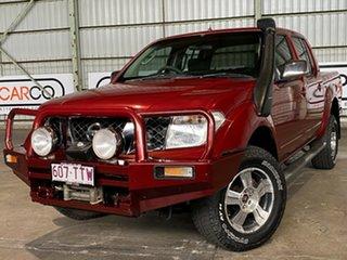 2007 Nissan Navara D40 ST-X Red 5 Speed Automatic Utility.