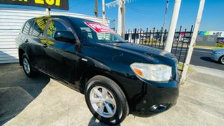 2008 Toyota Kluger GSU45R KX-R AWD Black 5 Speed Sports Automatic Wagon.