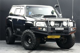 2007 Nissan Patrol GU 6 MY08 ST Black 4 Speed Automatic Wagon.