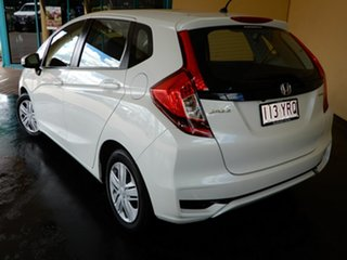 2018 Honda Jazz GK MY18 VTi White 5 Speed Manual Hatchback.