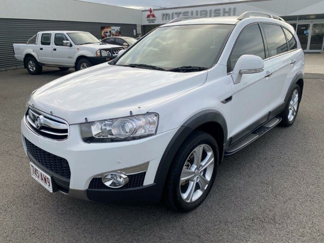 Used Holden Captiva CG Series II 7 AWD LX Gladstone, 2012 Holden Captiva CG Series II 7 AWD LX White 6 Speed Sports Automatic Wagon