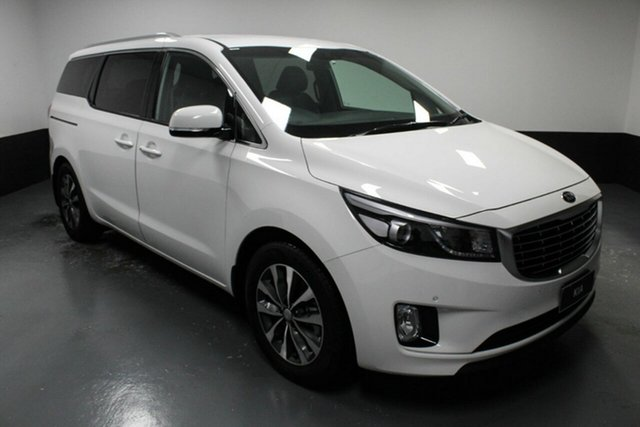 Used Kia Carnival YP MY17 SLi Rutherford, 2017 Kia Carnival YP MY17 SLi White 6 Speed Sports Automatic Wagon