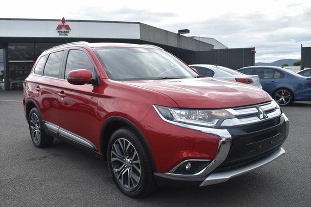 Used Mitsubishi Outlander ZK MY16 XLS 4WD Wantirna South, 2015 Mitsubishi Outlander ZK MY16 XLS 4WD Red 6 Speed Constant Variable Wagon