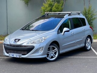 2011 Peugeot 308 T7 Sportium Touring Grey 6 Speed Sports Automatic Wagon.