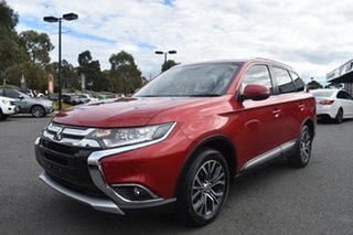 2015 Mitsubishi Outlander ZK MY16 XLS 4WD Red 6 Speed Constant Variable Wagon.