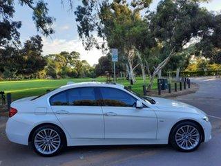 2015 BMW 3 Series F30 LCI 318i Luxury Line White 8 Speed Sports Automatic Sedan.