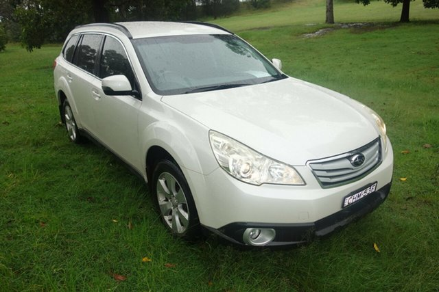 Used Subaru Outback B5A MY12 2.5i Lineartronic AWD East Maitland, 2012 Subaru Outback B5A MY12 2.5i Lineartronic AWD White 6 Speed Constant Variable Wagon
