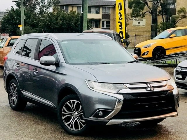 Used Mitsubishi Outlander ZK MY16 LS 4WD Liverpool, 2016 Mitsubishi Outlander ZK MY16 LS 4WD Grey 6 Speed Constant Variable Wagon