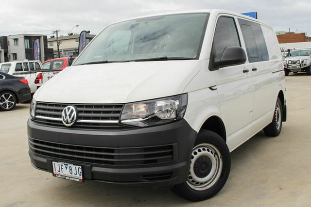 Used Volkswagen Transporter T6 MY17 TDI340 SWB DSG Coburg North, 2016 Volkswagen Transporter T6 MY17 TDI340 SWB DSG White 7 Speed Sports Automatic Dual Clutch Van