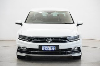 2017 Volkswagen Passat 3C (B8) MY17 206TSI DSG 4MOTION R-Line White 6 Speed.