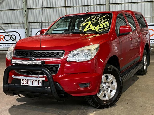 Used Holden Colorado RG MY13 LT Crew Cab Rocklea, 2012 Holden Colorado RG MY13 LT Crew Cab Red 6 Speed Sports Automatic Utility