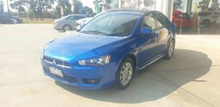 2010 Mitsubishi Lancer CJ MY10 ES Blue 6 Speed Constant Variable Sedan
