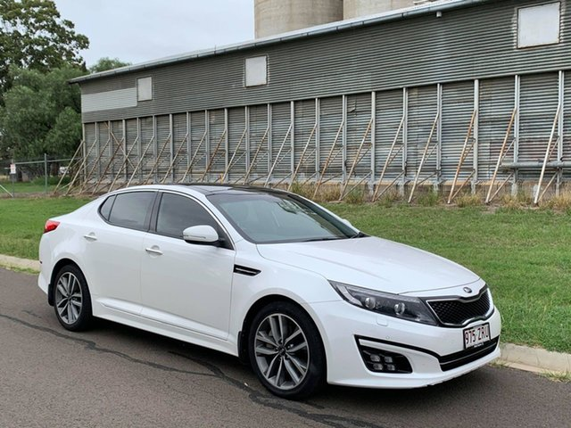 Pre-Owned Kia Optima TF MY14 Platinum Oakey, 2014 Kia Optima TF MY14 Platinum White 6 Speed Automatic Sedan