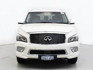 2015 Infiniti QX80 Z62 S Premium White 7 Speed Automatic Wagon.