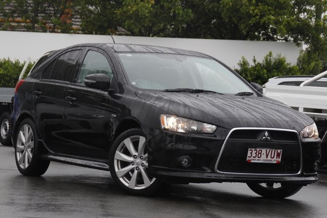Used Mitsubishi Lancer CJ MY15 GSR Sportback Mount Gravatt, 2014 Mitsubishi Lancer CJ MY15 GSR Sportback Black 5 Speed Manual Hatchback