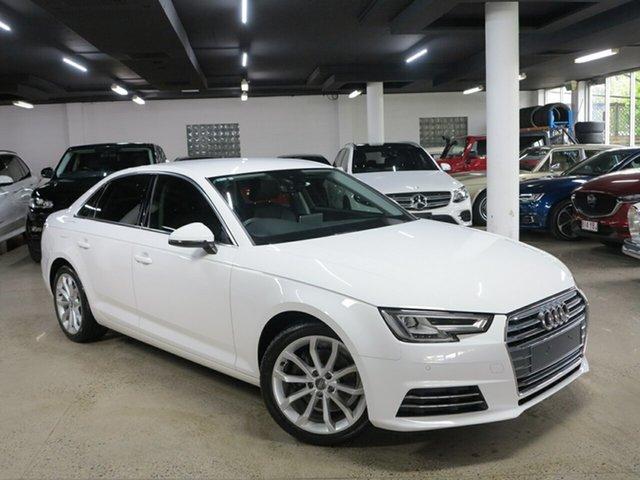Used Audi A4 B9 8W MY16 Sport S Tronic Albion, 2016 Audi A4 B9 8W MY16 Sport S Tronic White 7 Speed Sports Automatic Dual Clutch Sedan