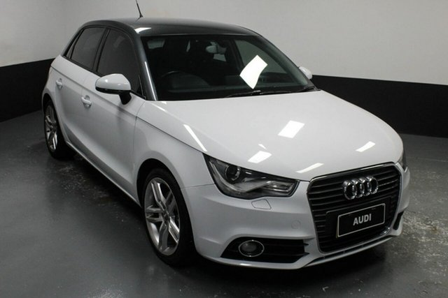 Used Audi A1 8X MY13 Ambition Sportback S Tronic Hamilton, 2012 Audi A1 8X MY13 Ambition Sportback S Tronic White 7 Speed Sports Automatic Dual Clutch