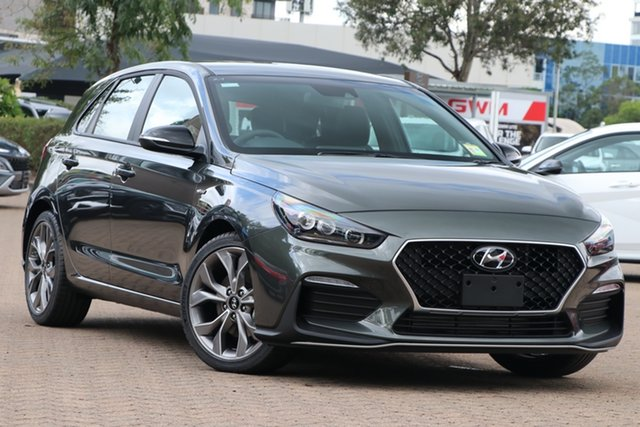 New Hyundai i30 PD.V4 MY21 N Line D-CT Nunawading, 2021 Hyundai i30 PD.V4 MY21 N Line D-CT Iron Grey 7 Speed Sports Automatic Dual Clutch Hatchback