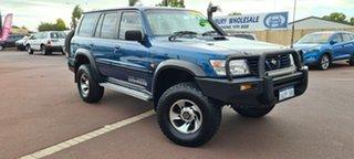 2001 Nissan Patrol GU II ST Blue 5 Speed Manual Wagon.