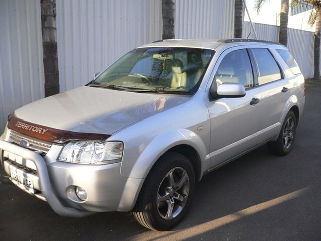 Used Ford Territory SX Ghia St Marys, 2004 Ford Territory SX Ghia Silver 4 Speed Sports Automatic Wagon