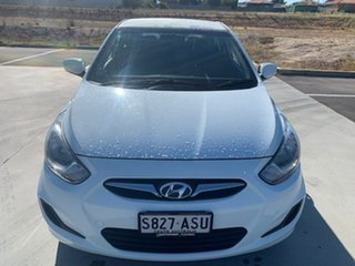 2012 Hyundai Accent RB Premium White 4 Speed Sports Automatic Hatchback.