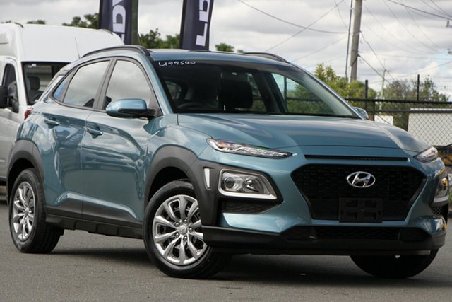 Used Hyundai Kona OS.2 MY19 Go 2WD Rocklea, 2019 Hyundai Kona OS.2 MY19 Go 2WD Ceramic Blue 6 Speed Sports Automatic Wagon