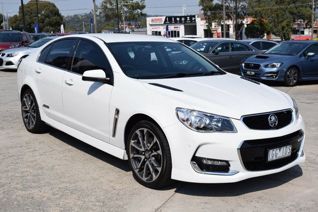 Used Holden Commodore VF II MY16 SS V Ferntree Gully, 2016 Holden Commodore VF II MY16 SS V White 6 Speed Manual Sedan
