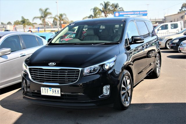 Used Kia Carnival YP MY16 SLi Cheltenham, 2015 Kia Carnival YP MY16 SLi Black 6 Speed Sports Automatic Wagon