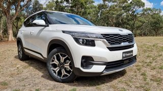 2021 Kia Seltos SP2 MY21 Sport+ 2WD Snow White Pearl 1 Speed Automatic Wagon.