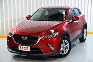 2018 Mazda CX-3 DK2W7A Maxx SKYACTIV-Drive Red/Black 6 Speed Sports Automatic Wagon.